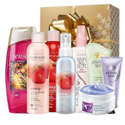AVON JOBLOT - PAMPERING HEROES GIFT SET - 8 ITEMS WORTH £30 WITH GIFT BOX