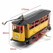Wind Up Rod Tram Collection Retro Toys Photography Props Retro Tin Clockwork Toy For Children Kids