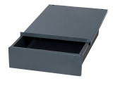 Edsal WD1218 Industrial Grey Steel Bench Drawer, 10cm Height x 30cm Width x 46cm Depth