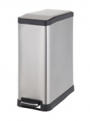 HomeZone 45-Litre Stainless Steel Rectangular Step Trash Can