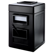 Garbage Trash Bin Commercial Waste/Windshield Convenience Centre, Black
