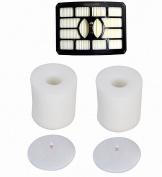 Smartide kit for Shark Rotator Pro Lift-away Nv500 Hepa Filter & Foam Filter (Containing 2 Foam Filter and 1 Hepa Filter . Part # Xff500 Xhf500