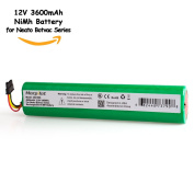 Morpilot 12V 4000mAh Extended NiMh Battery for Neato Botvac Series and Botvac D Series Robots Botvac 70e, 75, 80, 85 Robotic Vacuum Cleaner 945-0129 945-0174