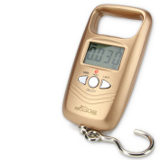 Booms C1 Compact LCD Digital Luggage/Fishing Scale 110lb/10g A17L Gold
