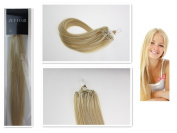 Style 41cm Easy Loops Micro Rings Beads Tipped 100% Real Human Hair Extensions Straight Hair 12 Colours Beauty Design Salon