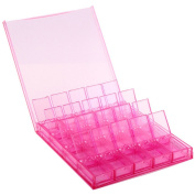 Practical 20 Grid Removable Compartments Box Small Items Tool Storage Case for Necklace Bracelet Ring Jewellery Gift Organiser Pink