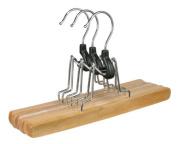 Gravidus Set of 3 Wooden Trouser Hanger