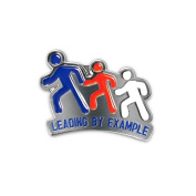 None - Leading by Example Lapel Pin