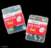 0021 Colourful Drawing Board Pins - appx 35 Pins a Pack - .