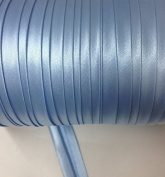 12 yards 1.6cm Single Fold Satin Bias Tape 20 Different Colours In Baby Blue