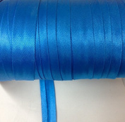 12 yards 1.6cm Single Fold Satin Bias Tape 20 Different Colours In Caribbean Blue