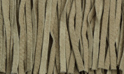 Dark Taupe Patterned Leather Fringe