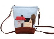 Village Scenery Bucket Messenger Bag Purse Making Kit Sewing Project Craft Kit for Girls Adults