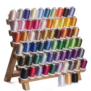 63 Assorted Colours Polyester Embroidery Machine Thread Set