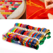 Kangnice Cross Stitch Cotton Embroidery Thread Floss Sewing Skeins 100 Different Colours
