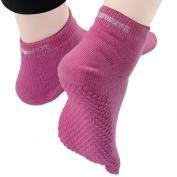 CompressionZ Yoga Socks Non Slip Full Toe - Women & Men Pilates, Barre, Strong Grip