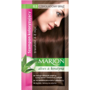 Marion Hair Colour Shampoo in Sachet Lasting 4 to 8 Washes Aloe and Keratin - 63 Chocolate Brown