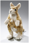 Soft Toy Kangaroo with Baby gold-brown 22cm . [Toy]