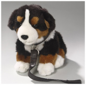 Soft Toy Bernese Mountain Dog with lead, 20cm . [Toy]
