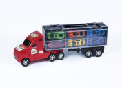 38cm Big Rig Car Carrier Transport Truck - Toy For Boys With 12 Metal Cars
