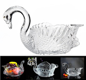 Crystal Swan Serving Bowl Centrepiece For Home,Office,Wedding Decor