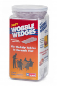 Wobble Wedge - Soft Clear - Restaurant Table Shims - 75 pc