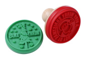 Webake 2pcs Holiday Cookie Stamps,Cookie Mould, Santa and Christmas Tree, Red and Green