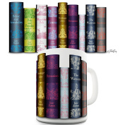 Austen Spines Print Tea Coffee Quirky Novelty Mug