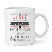 The World Is A Book Quote 300ml Mug Cup