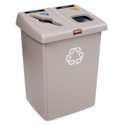 Rubbermaid Commercial 1792371 Glutton Recycling Staion, 2-Stream, Beige, Colour/Style