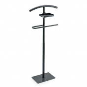 Balvi - Valet stand. Keeps your clothes tidy. It includes a tray for small items. Made of metal. Black colour