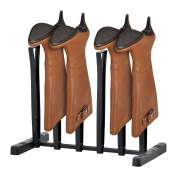 Top Home Solutions 3 Pair Boot Storage Rack, Ideal For Walking Boots, Wellies, Riding Boots And Fashion Boots