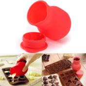 MAXGOODS Silicone Chocolate Melting Pot Melt Butter Heat Milk Sauce Microwave Kitchen Aid,150ML