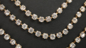 Rhinestone Trim Rhinestone Chain Golden TrimPrice for 1 Yard-RH20