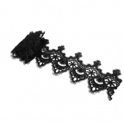 PIXNOR Tassels Lace Trim Edging Trim Applique DIY Ribbon Wedding Sewing Craft - Black