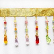 Resources House Colourful Beaded Tassel Trimming Bridal Wedding Dress Fringe Trim Clothes Accessories