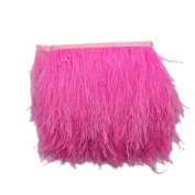 MagiDeal Ostrich Feather Dyed Fringe 1 Yard Trim Sewing Crafts - Deep Pink, One Size