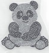 Panda Rhinestone Iron On Heat Press Crystal MOTIF