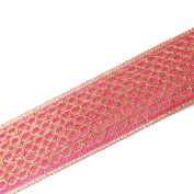 Indian Embroidered Fuchsia Trim Crafting Dress Border Lace Ribbon Costume Fabric New By 1 Yard