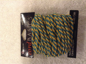 Cousins Cord Basics green & gold sparkle cord 5m