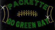 Green Bay Football Rhinestone Iron on Transfer