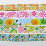 Dandan DIY Assorted of Colours 10Yards 2.5cm Coluful Grograin Ribbon Flower Bow Appliques Craft Gift Packing Doll Decoration