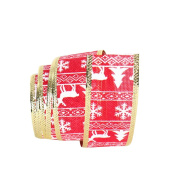 Da.Wa Christmas Tree Elk Ribbon Snowflake Wired Edge Burlap Ribbon Christmas Tree Decor Party Favours