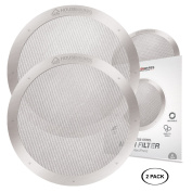 2-Pack Reusable Stainless Steel Filters for AeroPress Coffee Makers by Housewares Solutions