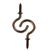 2.2cm Antique Brass Plated Ceiling Screw Hooks Bronze for Hanging 40PCS