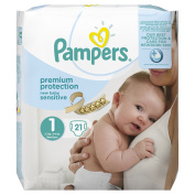 Pampers New Baby Sensitive 21 Nappies Size 1