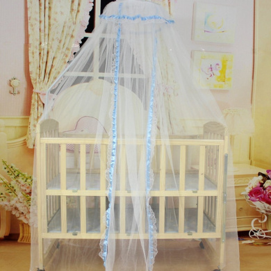 Bluelans® Blue Mosquito Net Bed Canopy Polyester, Fly Insect Protection Mosquito Mets for Beds, 170cm x 470cm