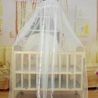 Bluelans® White Mosquito Net Bed Canopy Polyester, Fly Insect Protection Mosquito Mets for Beds, 170cm x 470cm (Beige)