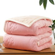 BDUK Double-Thick Down Blanket Winter Coral Warm Blanket Faller Wool Blankets Single Double Be Blankets
