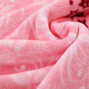 BDUK Fallay Blankets, Lint-Free Air-Conditioning And Double Click Flannel Blanket Bedspreads Coral Down Blanket Winter Afternoon Nap Blankets